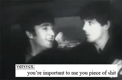 Watch The Beatles GIF on Gfycat. Discover more 1k, 60s, beatles, beatles gif, black and white, gif, lol, mine, paul mccartney, paul mccartney gif, pm, pmg, text post, the beatles, the beatles gif, tumblr text post, vintage GIFs on Gfycat