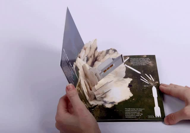 Watch Popup book featuring three spreads detailing the NASA Curiosity rover mission to Mars. GIF on Gfycat. Discover more related GIFs on Gfycat
