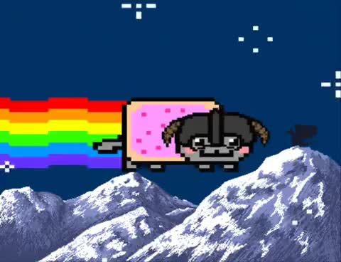 Watch and share Nyancat GIFs and Skyrim GIFs on Gfycat