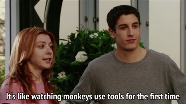 American Wedding   It's like watching monkeys use tools for the