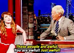 Watch and share David Letterman GIFs and Emma Stone GIFs on Gfycat