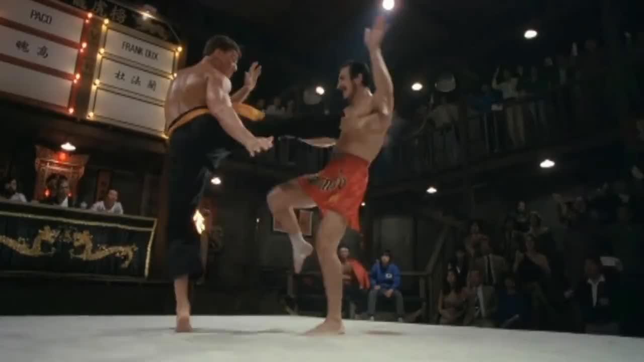 Kickboxing, Ninjutsu, bloodsport, kumite, Blood Sport Semi Final (Van Damme VS. Muay Thai Master) GIFs