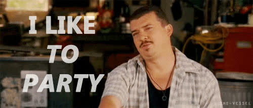 danny mcbride, party, danny mcbride, i like to party, party GIFs