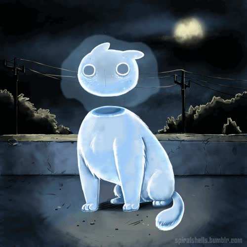 Watch Ghostcat by Ammonite-Amy GIF on Gfycat. Discover more related GIFs on Gfycat