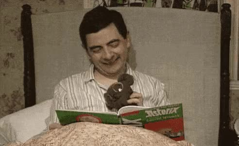 Watch this mr bean GIF by GIF Queen (@ioanna) on Gfycat. Discover more asterix, bean, bear, excited, fairytale, good, good night, goodnight, happy, laugh, lol, mr, mr bean, night, read, rowan atkinson, sleepy, smile, teddy GIFs on Gfycat