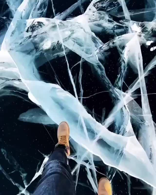 Watch and share Walking On Lake Baikal, Russia GIFs by marshal on Gfycat