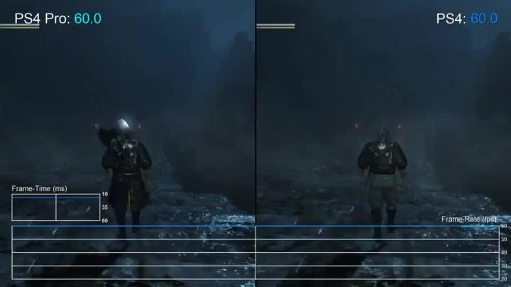 Nioh | PS4 Pro & PS4 compararison GIFs