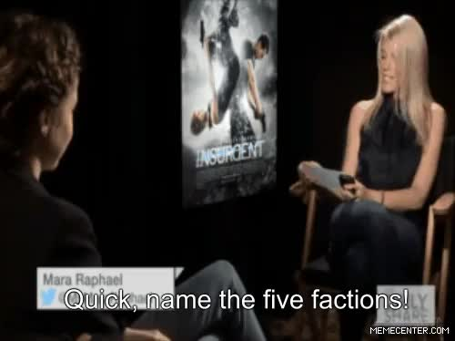 Watch this GIF on Gfycat. Discover more Shailene Woodley, abnegation, amity, candor, dauntless, divergent, erudite, factionless, factions, four, insurgent, interview, miles teller, theo james, tris prior GIFs on Gfycat