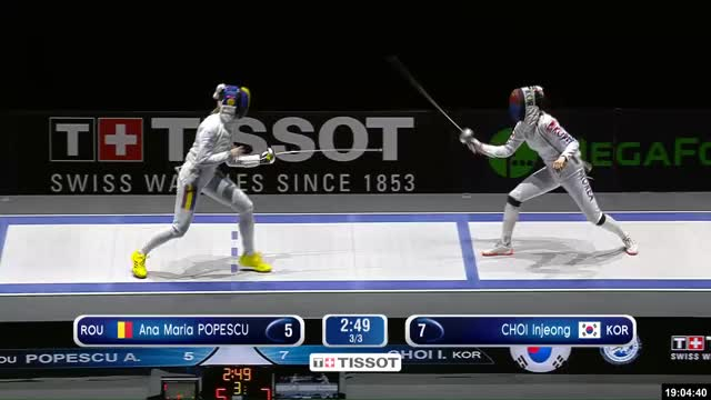 Watch Ana Maria POPESCU 6 GIF by Scott Dubinsky (@fencingdatabase) on Gfycat. Discover more cricket, gender:, leftname: Ana Maria POPESCU, leftscore: 6, rightname: CHOI Injeong, rightscore: 8, time: 00004393, touch: double, tournament: budapest2019, weapon: epee GIFs on Gfycat