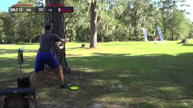 Watch Semifinals 2018 DGPT Championship - MPO B9 | Ricky Wysocki hole 13 putt GIF by Benn Wineka UWDG (@bennwineka) on Gfycat. Discover more Sports, dgpt, disc golf, disc golf pro tour GIFs on Gfycat