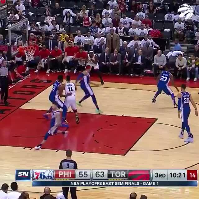 Watch and share Philadelphia 76ers GIFs and Toronto Raptors GIFs on Gfycat