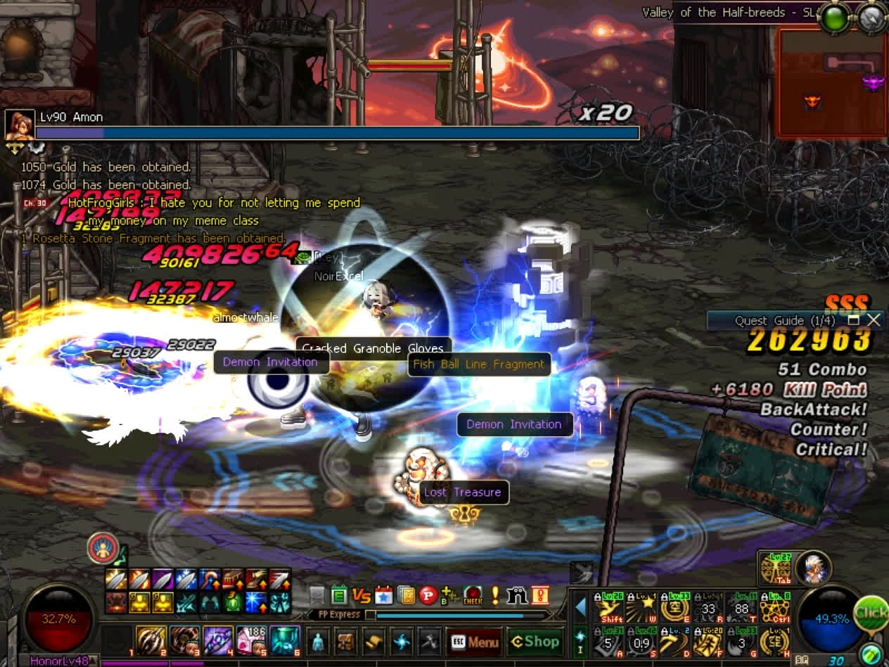 60fps, dfo, mmorpg, DFO Hell Mode Vol.72 GIFs