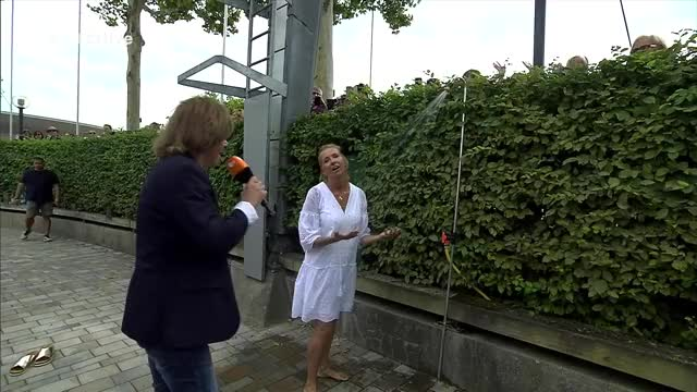 Watch and share Andrea Kiewel ZDF-Fernsehgarten 20180729 SC 1080p HEVC A GIFs on Gfycat