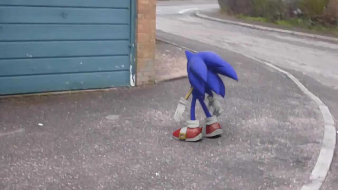 3D, CGI, animation, boujou, camera, sonic, sonico, Sonic 'IRL' [Camera Tracking Experiment] GIFs