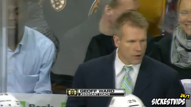 Watch and share Boston Bruins Coach Throws Earpiece Into Fans Drink (Slow Mo) (reddit) GIFs on Gfycat