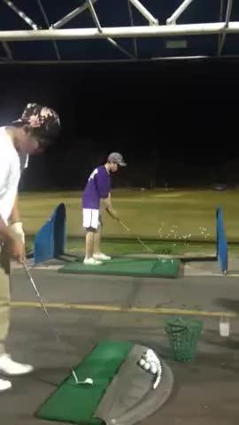 Amazing golf trick shot