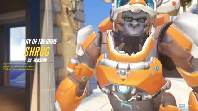 Watch and share Overwatch GIFs and Winston GIFs by shrugging on Gfycat