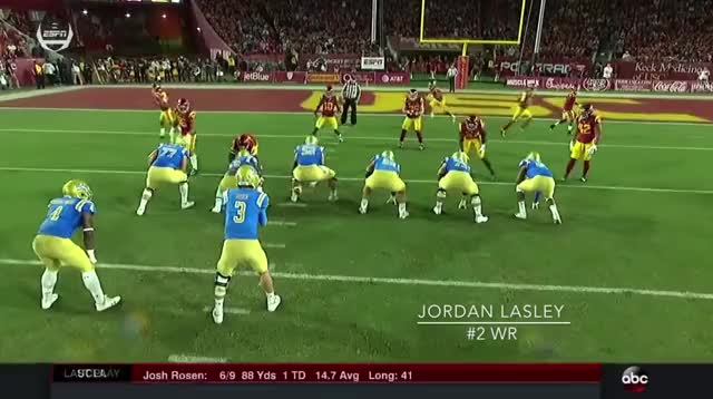 Watch and share Lasley Adjustment To The Football 1 GIFs by logangyfycat on Gfycat