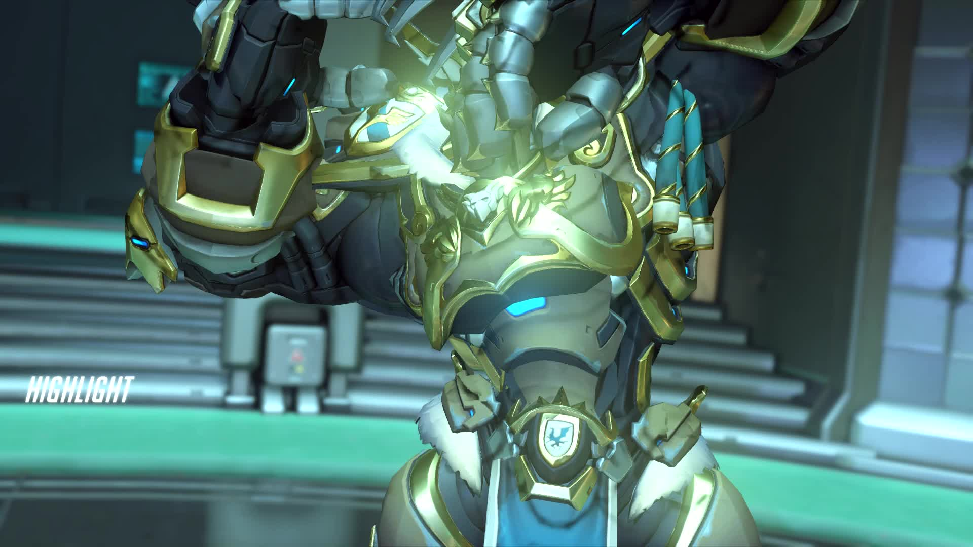 Overwatch, You can't outrun Reinhardt GIFs