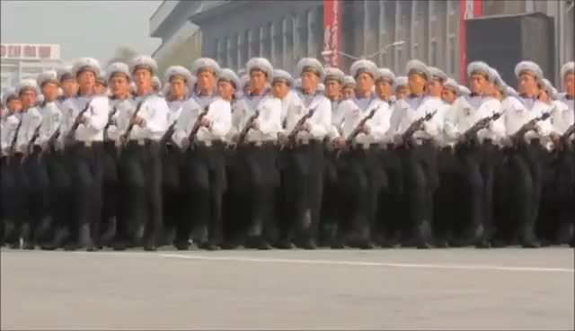 Watch and share North Korean Military (DPRK) - Hell March 2016 GIFs on Gfycat