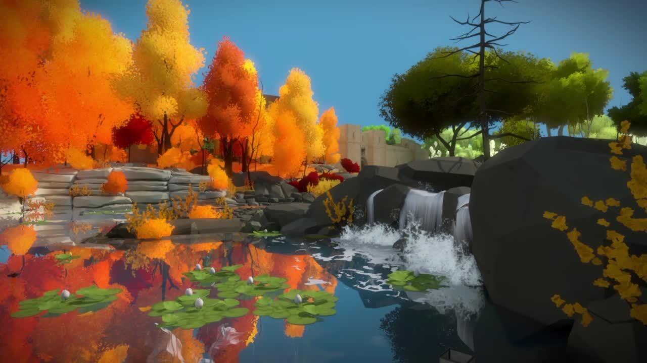 The Witness, relax, thewitness, The Witness - The Waterfalls GIFs