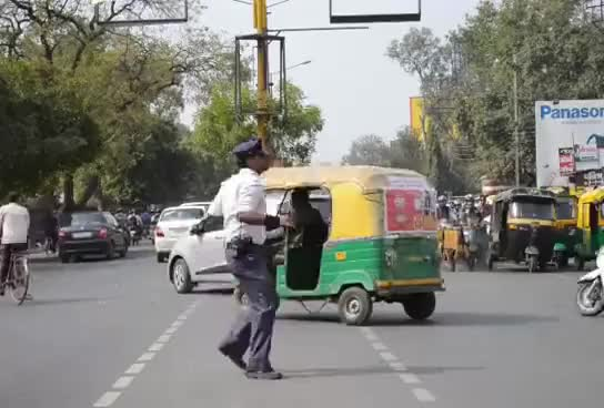 Watch and share Indore's Moonwalking Cop Is Literally Traffic-Stopping GIFs on Gfycat
