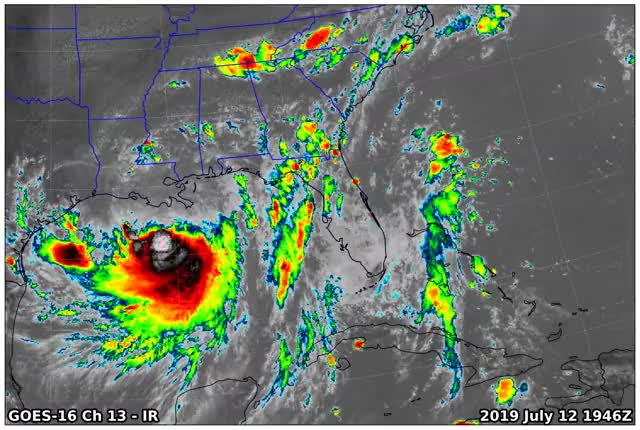 Watch GOES16 Ch13 2019 07 12 1946 GIF on Gfycat. Discover more related GIFs on Gfycat