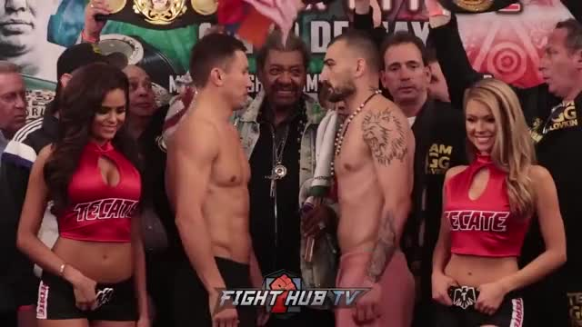 Watch GENNADY GOLOVKIN VS VANES MARTIROSYAN FACE OFF GIF on Gfycat. Discover more related GIFs on Gfycat
