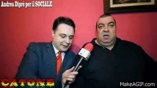 Watch and share Catone (PORCO SCHIFO!) Incontrato Da Andrea Diprè GIFs on Gfycat