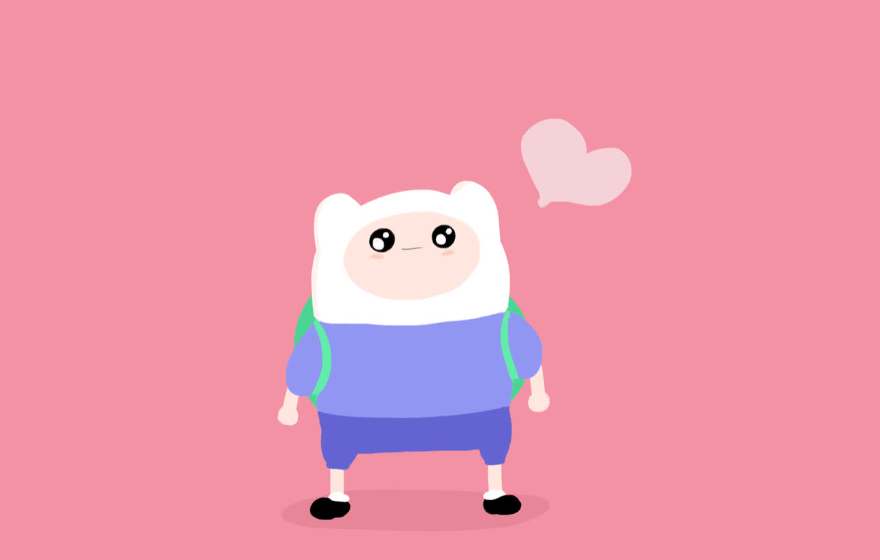 adventure, aww, awww, cute, heart, hearts, kiss, kisses, love, pink, sweet, time, Aww Adventure time GIFs