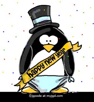 Watch and share Penguin Happy New Year GIFs on Gfycat
