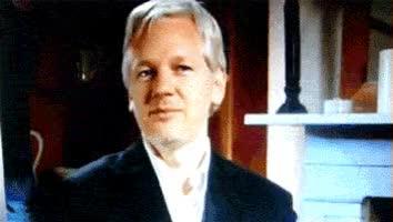 Watch and share Julian Assange GIFs on Gfycat