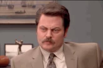 Watch this not amused GIF by Reaction GIFs (@sypher0115) on Gfycat. Discover more Nick Offerman, bored, notamused, parks and rec, parks and recreation, uninterested GIFs on Gfycat