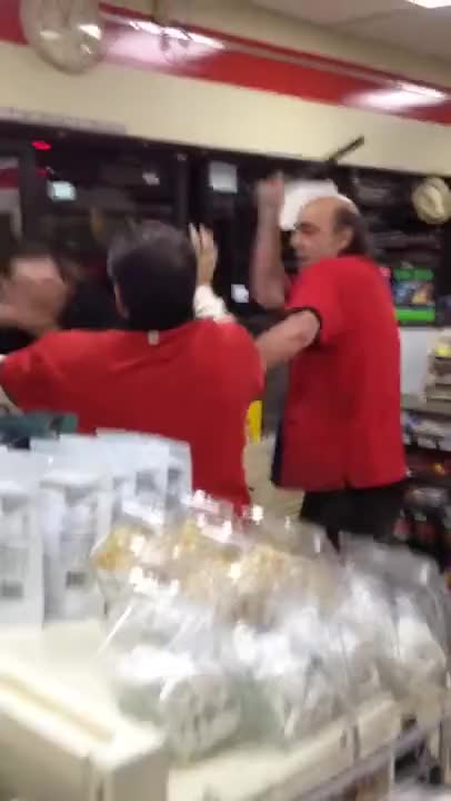 Watch Chaos in 7-11 GIF on Gfycat. Discover more bass, baton, beer, crazy, drink, drunk, fight, shopping, store, wasted GIFs on Gfycat