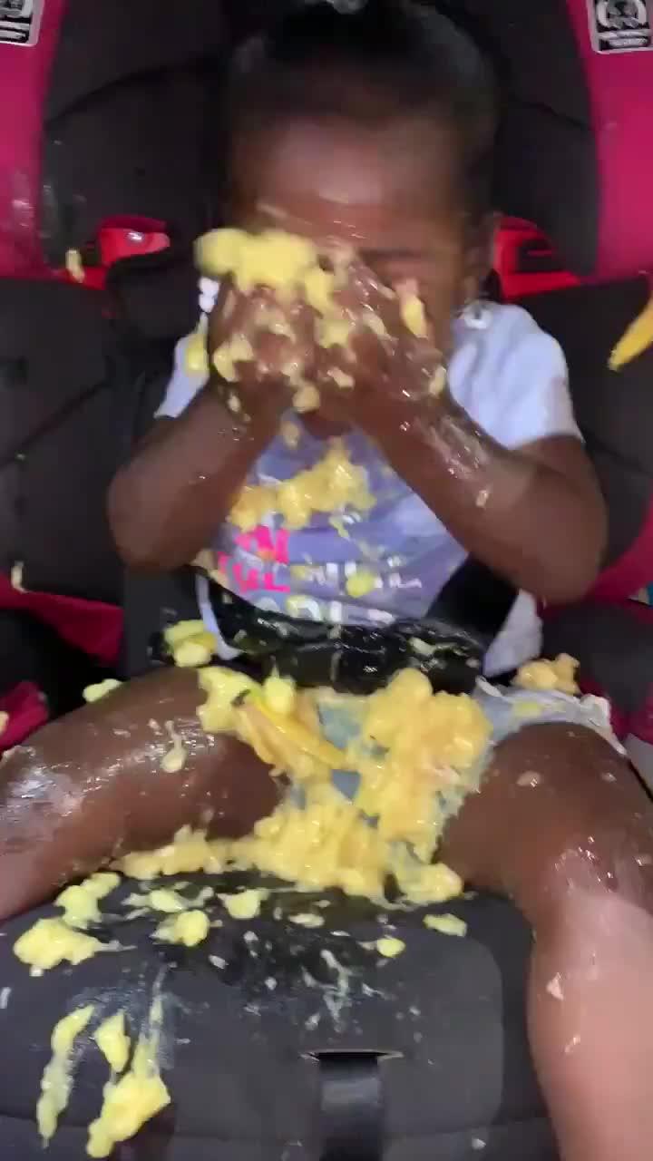 baby, bananas, messy, Oh bananas! GIFs