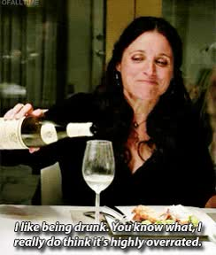 Watch and share Julia Louis Dreyfus GIFs and Drinking GIFs on Gfycat