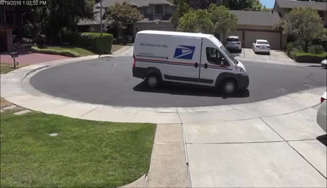 Watch and share Mailman Throws Package GIFs on Gfycat
