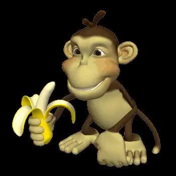 Watch and share Monkey Eat Banana Clr GIFs on Gfycat