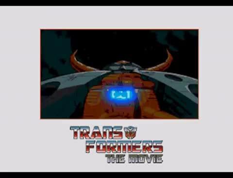 fmv, homebrew, unicron, Transformers G1 The Movie Unicron Transforms FMV on Sega Genesis / Mega Drive with Soundtrack GIFs