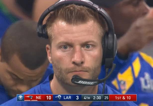 Watch and share Super Bowl Liii GIFs and Sean Mcvay GIFs on Gfycat