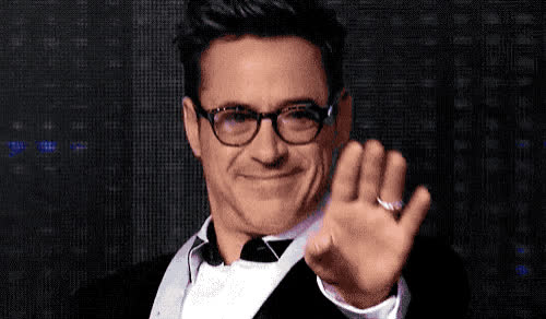 bye, cu, downey, goodbye, hello, hey, hi, junior, robert, robert downey jr, see, smile, welcome, you, Hi Robert GIFs