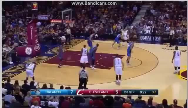 eb9e0b5b91fd Watch LeBron James MONSTER dunk on Nikola Vucevic - Cleveland Cavaliers vs  Orlando Magic - 29