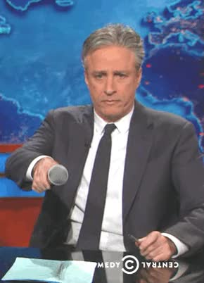 Watch and share Jon Stewart GIFs and Mic Drop GIFs by Reactions on Gfycat