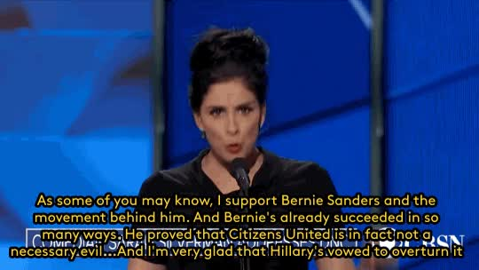 Watch and share Sarah Silverman GIFs and Dnc2016 GIFs by Reactions on Gfycat