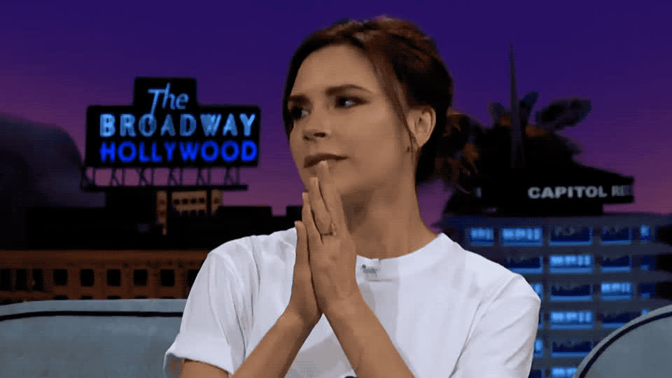 beckham, car, caraoke, corden, girls, hands, hope, hopefully, james, late, late late, night, please, pool, pray, show, so, spice, victoria, want, Victoria Beckham - Please GIFs