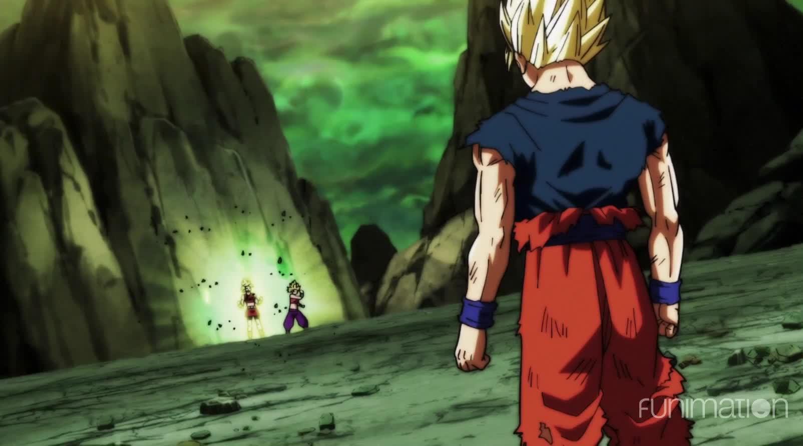 Dragon Ball Super, Dragonballsuper, Episode 113, anime, dragonballz, funimation, Kale's going berserk Saiyan! GIFs