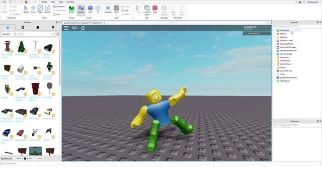 Watch and share Super Emote Maker Lolololol (MY PLACE ONLY) - Roblox Studio 2019-10-07 18-17-05 GIFs on Gfycat
