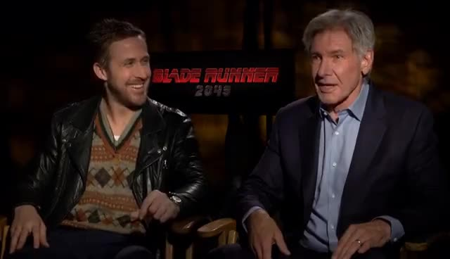 blade runner, harrison ford, ryan gosling, BLADE RUNNER 2049: Harrison Ford & Ryan Gosling On Everything You Need To Know GIFs