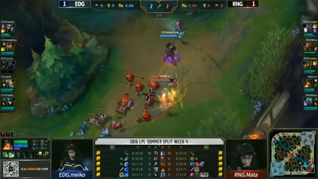 EDG vs RNG Highlights Game 3 Tencent LPL Summer 2016 W4D1 Edward Gaming vs Royal Never Give Up