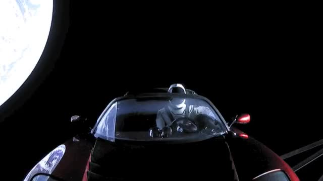 Watch and share Starman GIFs and Spacex GIFs by moosekiller on Gfycat